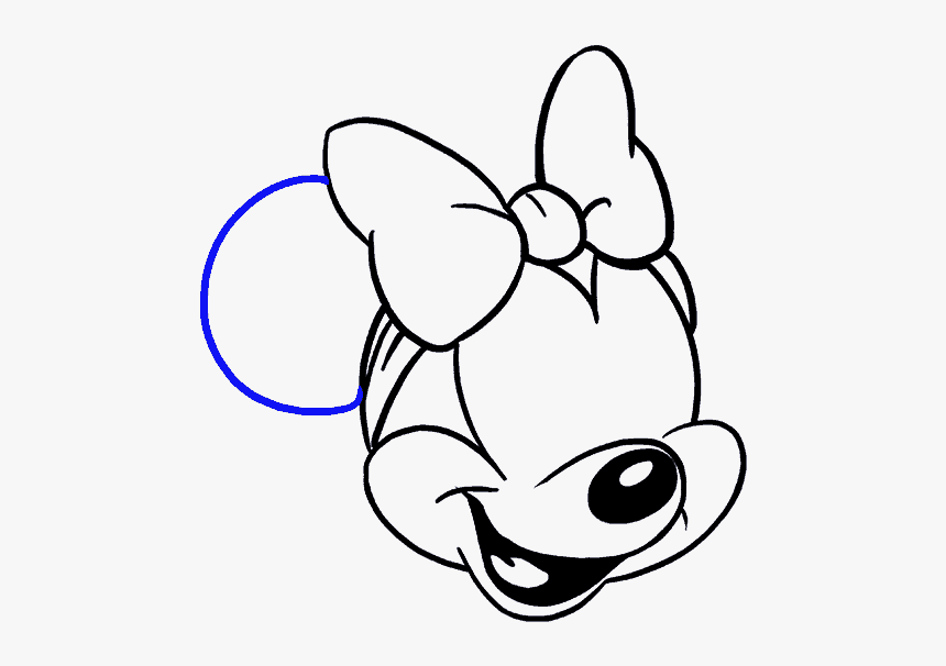 How To Draw Minnie Mouse - Drawing Minnie Mouse, HD Png Download, Free Download