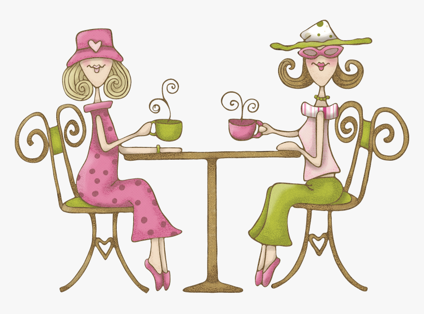 """Women""""s Night Out - Ladies Afternoon Tea Cartoon, HD Png Download, Free Download"""