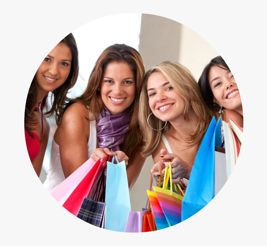 Ladies Night - Group Of Friends Shopping In The Mall, HD Png Download, Free Download