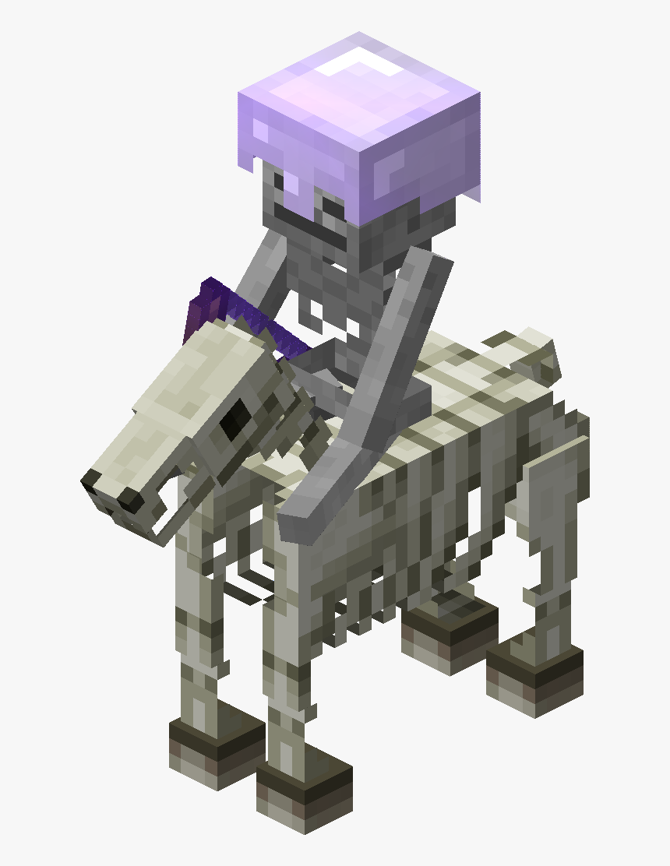 Pocket Edition Horse Skeleton Mob - Transparent Minecraft Skeleton Horse, HD Png Download, Free Download
