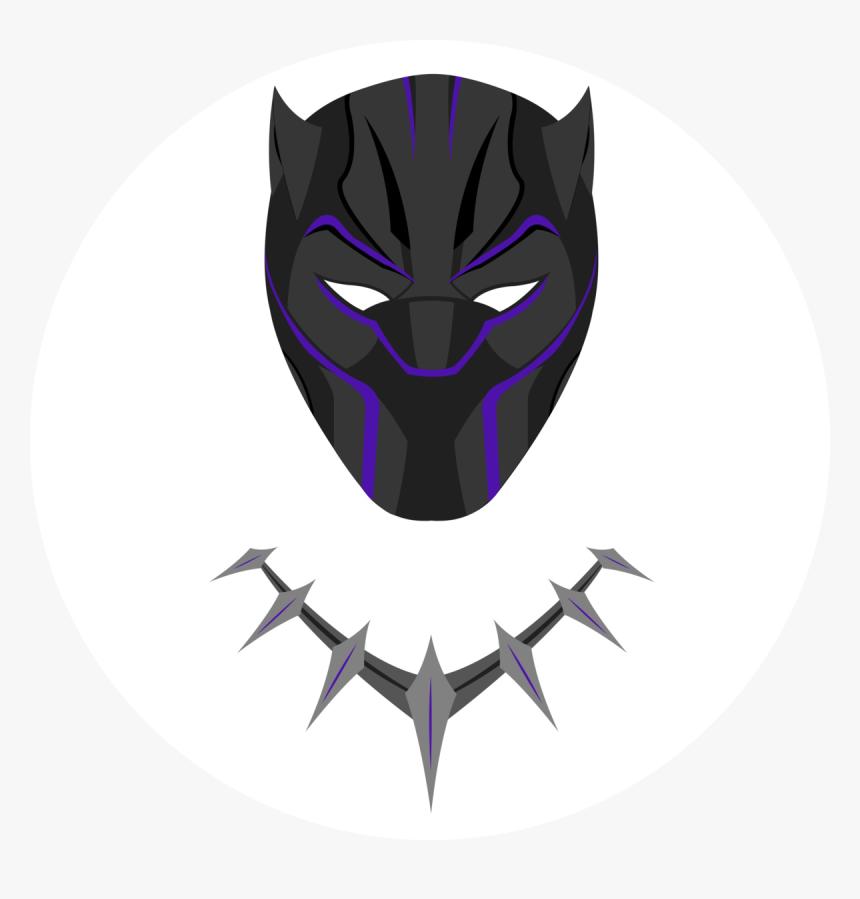 Black Panther Mask Black And White Png Download Marvel Black Panther Outline Transparent Png Kindpng