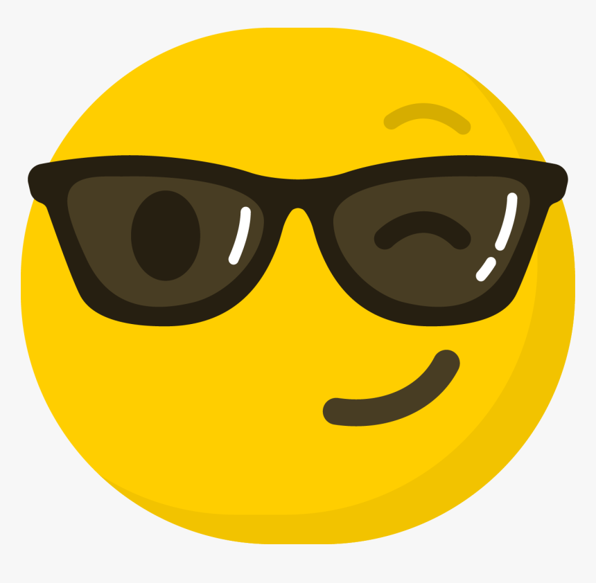 Transparent Sunglasses Emoji Clipart - Smiley Transparent Emoji, HD Png Download, Free Download