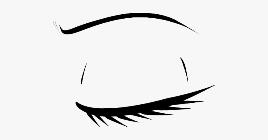 Closed Eye Drawing Anime Hd Png Download Kindpng