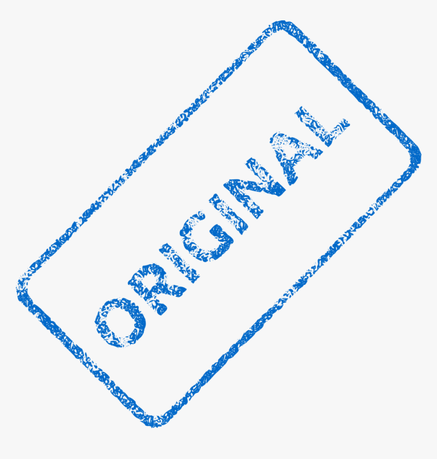 Original Stamp Png - Original Watermark, Transparent Png, Free Download