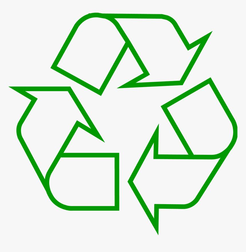 Recycling Symbol Icon Outline Dark Green - Simbolo De Reciclaje Png, Transparent Png, Free Download