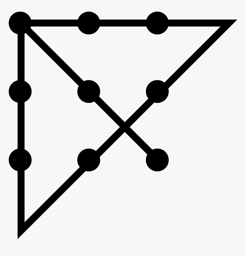 9 Dots 4 Lines - Connect The Dots With Four Straight Lines, HD Png Download, Free Download