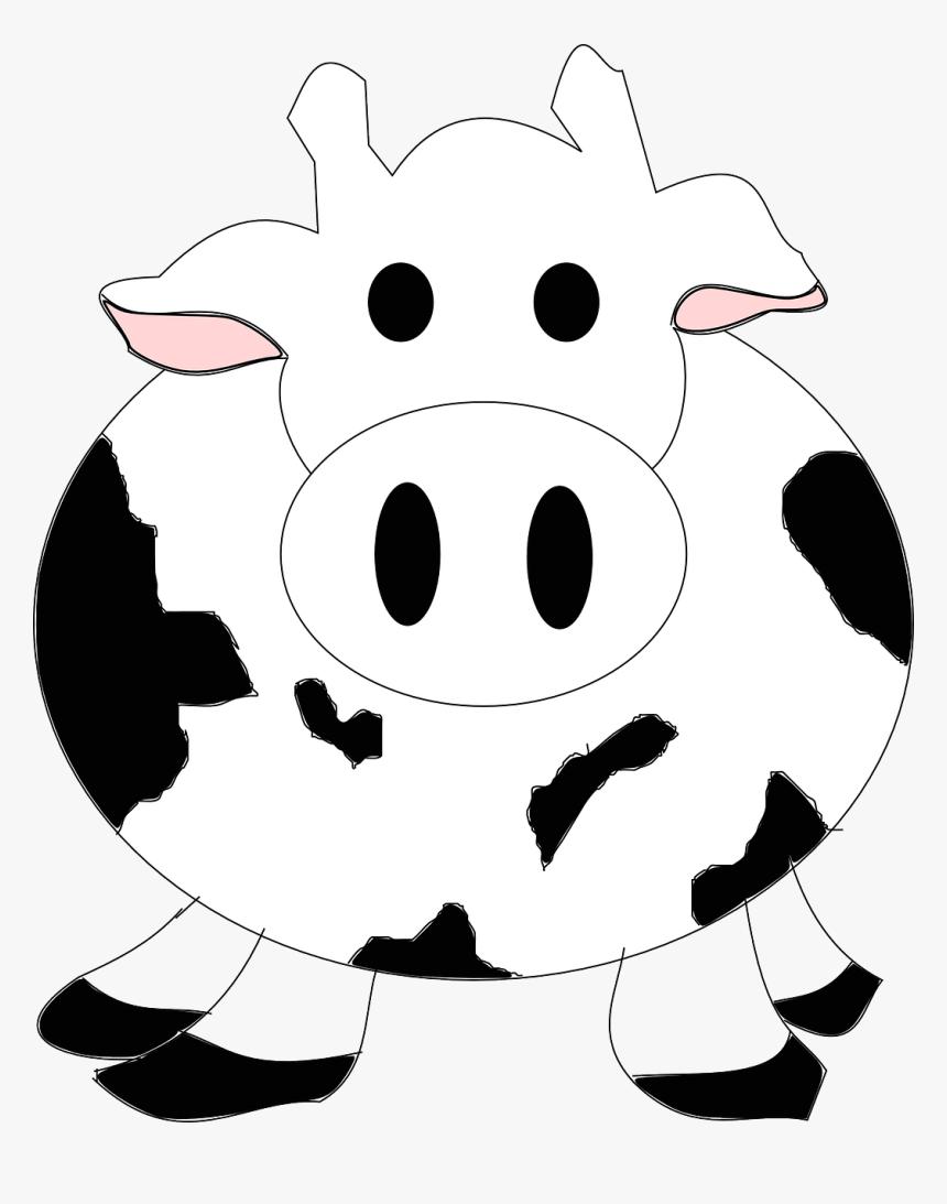 Cattle Vector Cow Cartoon Gambar Sapi Hitam Putih Kartun