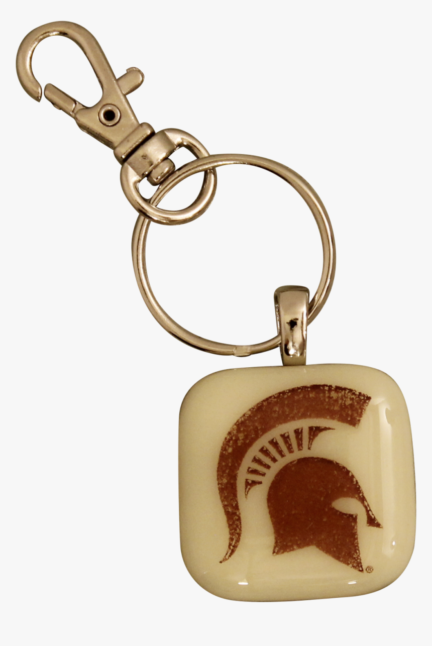 "Michigan State University Spartan Glass Key Chain""  - Michigan State Spartans, HD Png Download, Free Download"