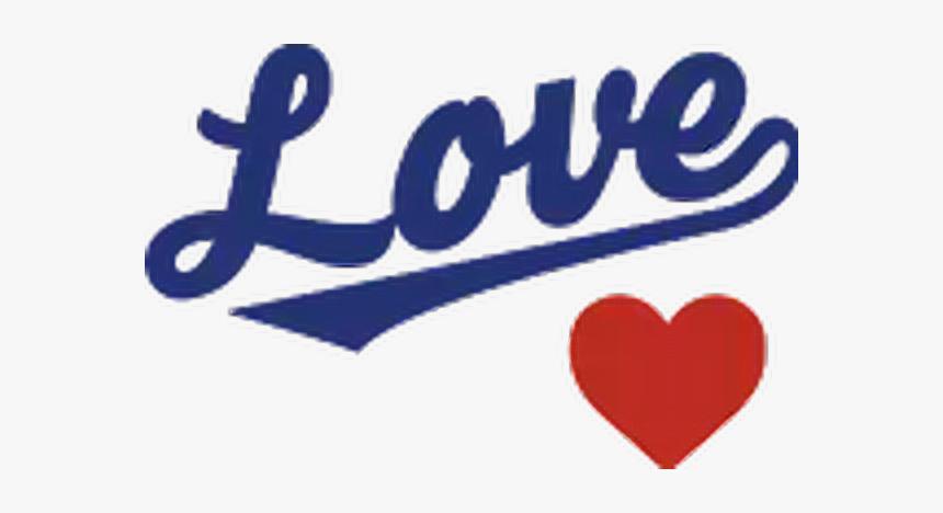 #la #dodgers #heart #blue #love #logo #freetoedit - Heart, HD Png Download, Free Download