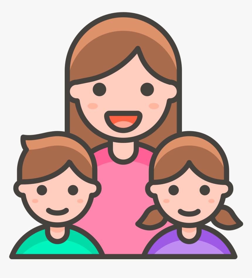 344 Family Woman Girl Boy - Familia Emoji Png, Transparent Png, Free Download