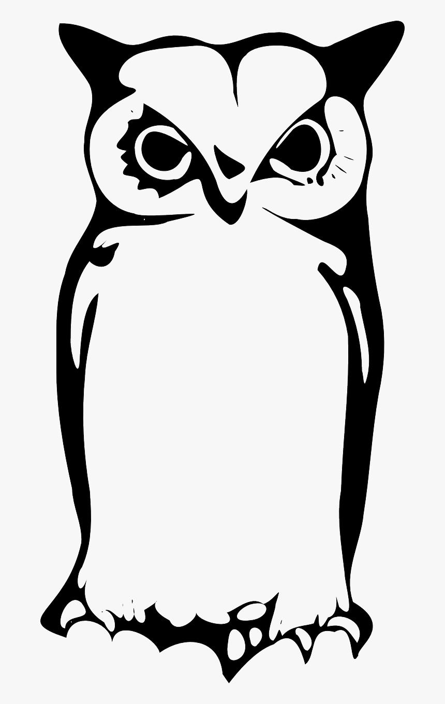 Owl Monochrome Graphy Artwork Gambar Tribal Burung