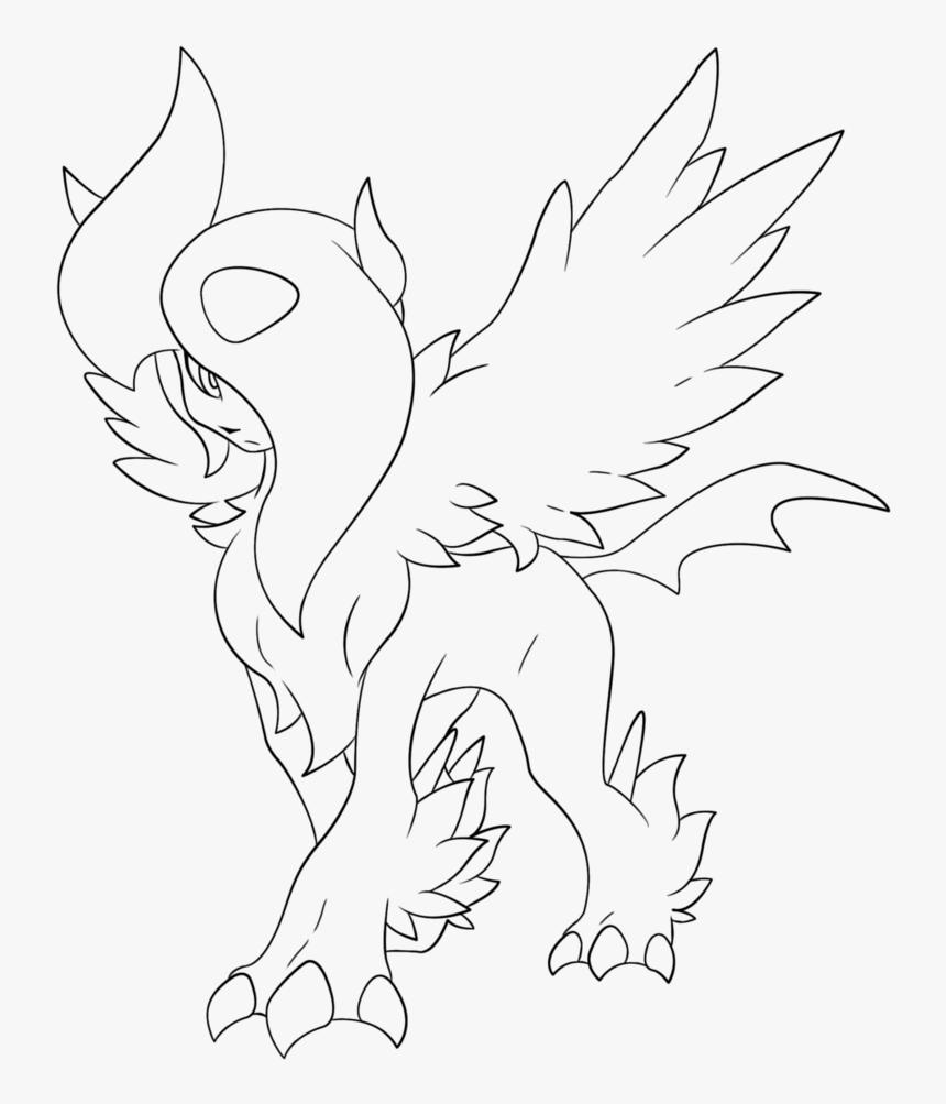 Pokemon Mega Absol Drawing Hd Png Download Kindpng
