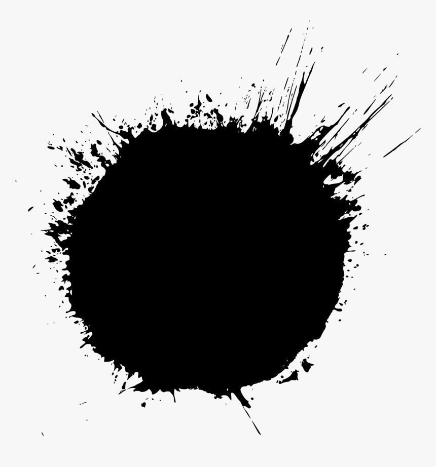 black splash png free download - circle - black circle splash png