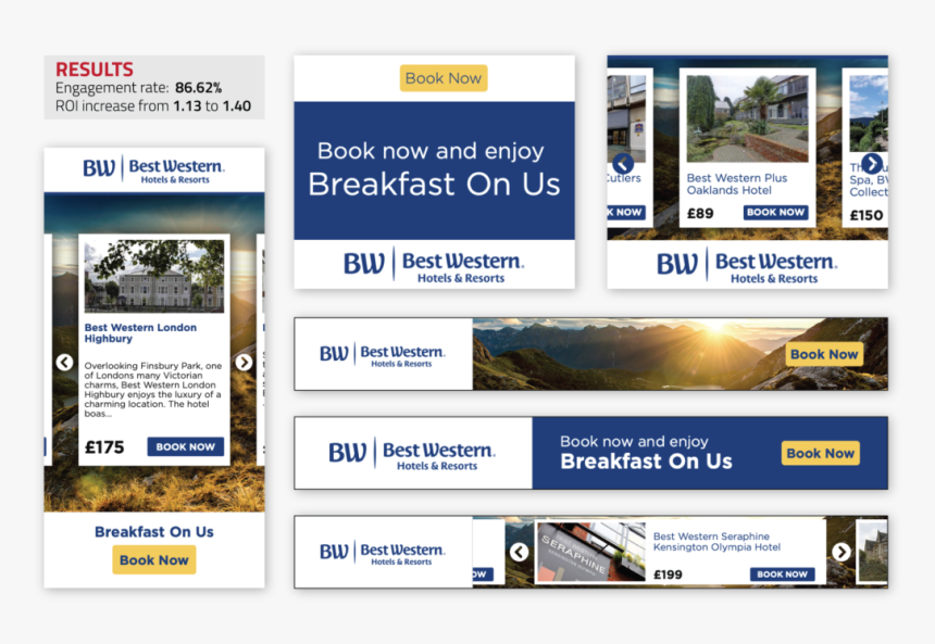 Dynamic Creative Optimization For Best Western Hotels - Hotel Best Western Advertisement, HD Png Download, Free Download