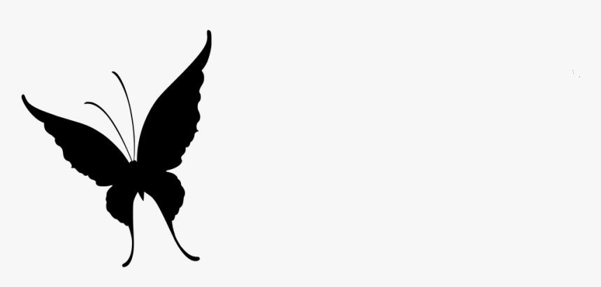Flores Vector De Mariposa Mariposa Con Flores Mentahan Kupu Kupu Hitam Putih Hd Png Download Kindpng
