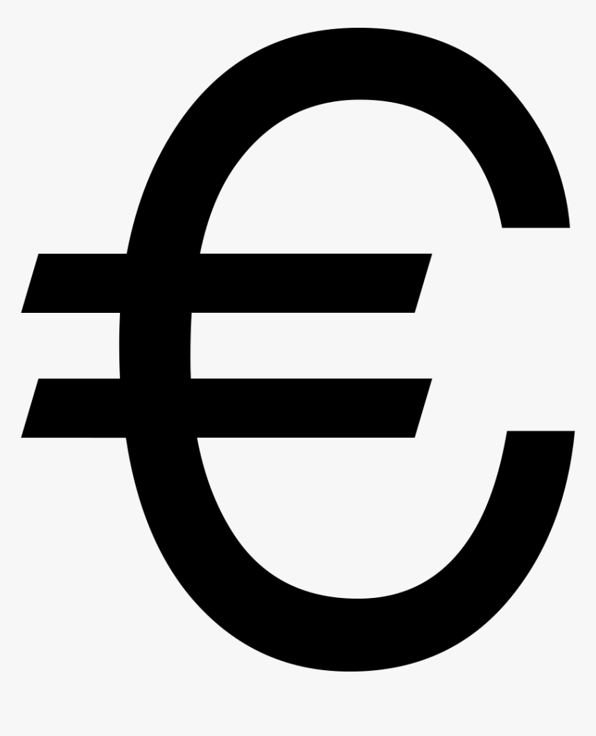 big euro symbol euro icon noun project hd png download kindpng euro icon noun project hd png download