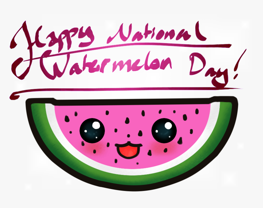 National Watermelon Day Clip Art, HD Png Download, Free Download