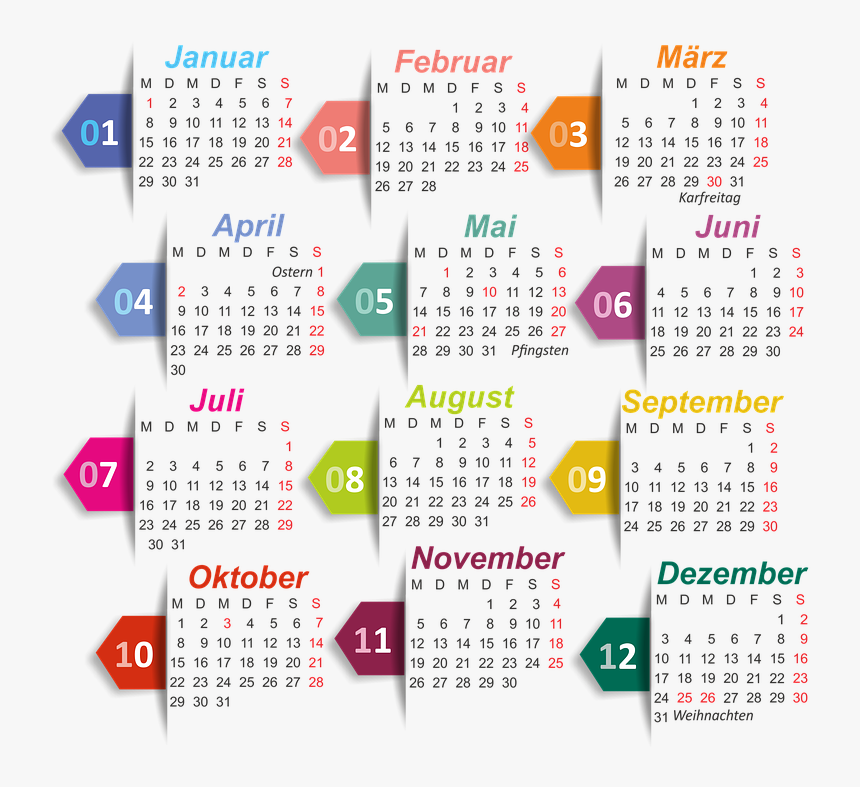 Calendar, 2018, Isolated, Without Background - Pixabay Image Calender, HD Png Download, Free Download