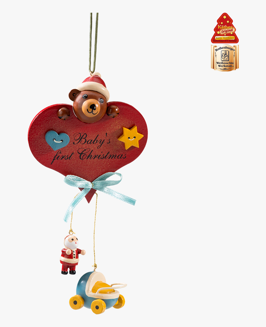 "Baby""s First Christmas Cuddly Bear - Käthe Wohlfahrt Baby's First Christmas, HD Png Download, Free Download"