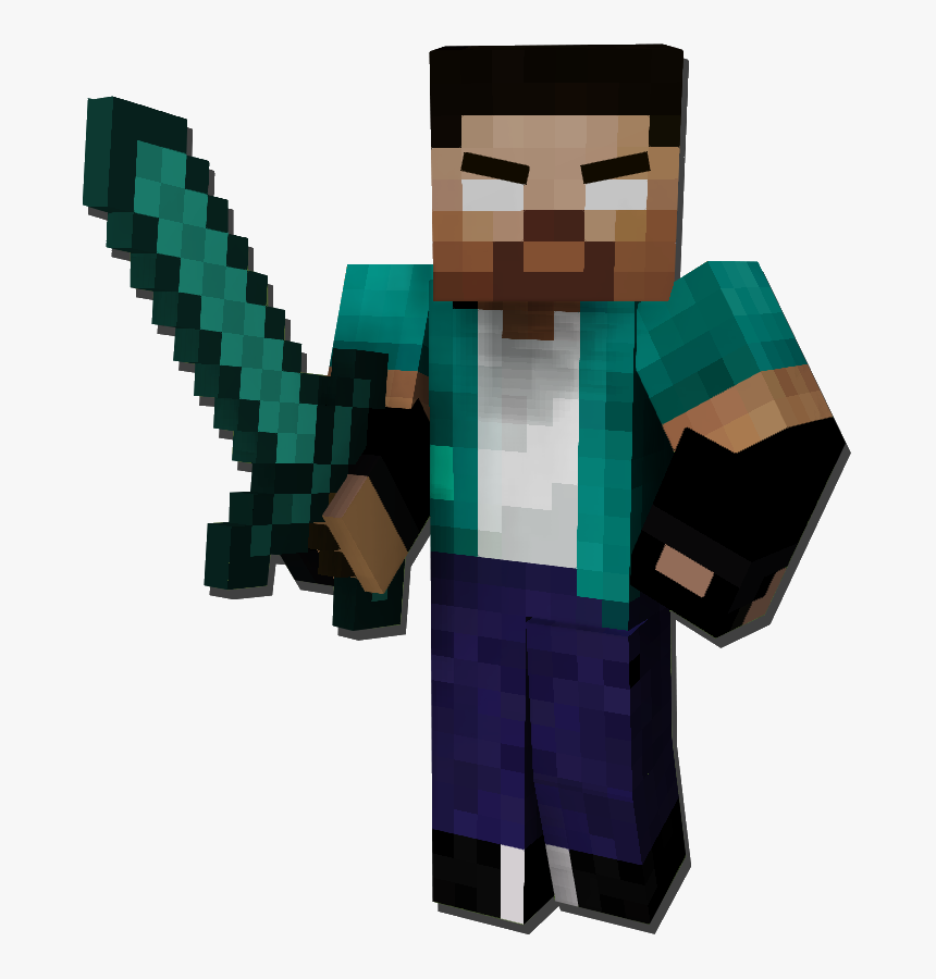Transparent Minecraft - Minecraft 3d Skin Render Png, Png Download, Free Download