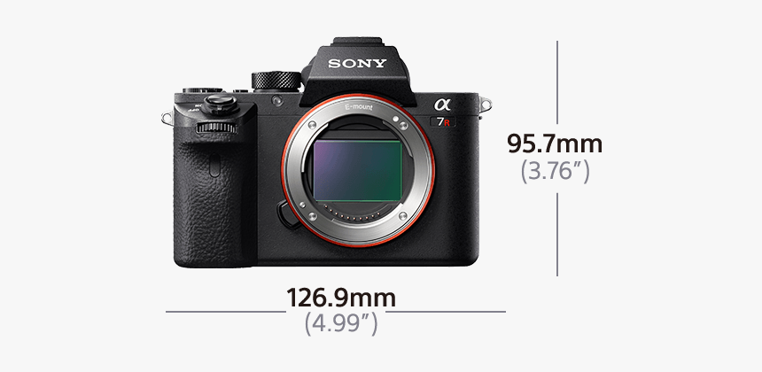 Alpha 7r Ii Digital E Mount Camera With Back Illuminated - Sony Alpha A7r Ii, HD Png Download, Free Download