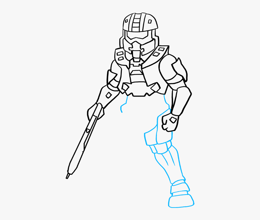 How To Draw Master Chief From Halo Drawing Master Chief