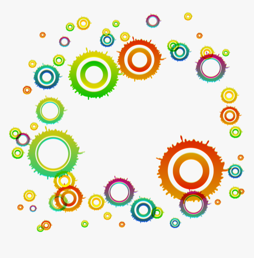 Circle Geometry Clip - Clipart Colorful Geometric Patterns Png, Transparent Png, Free Download