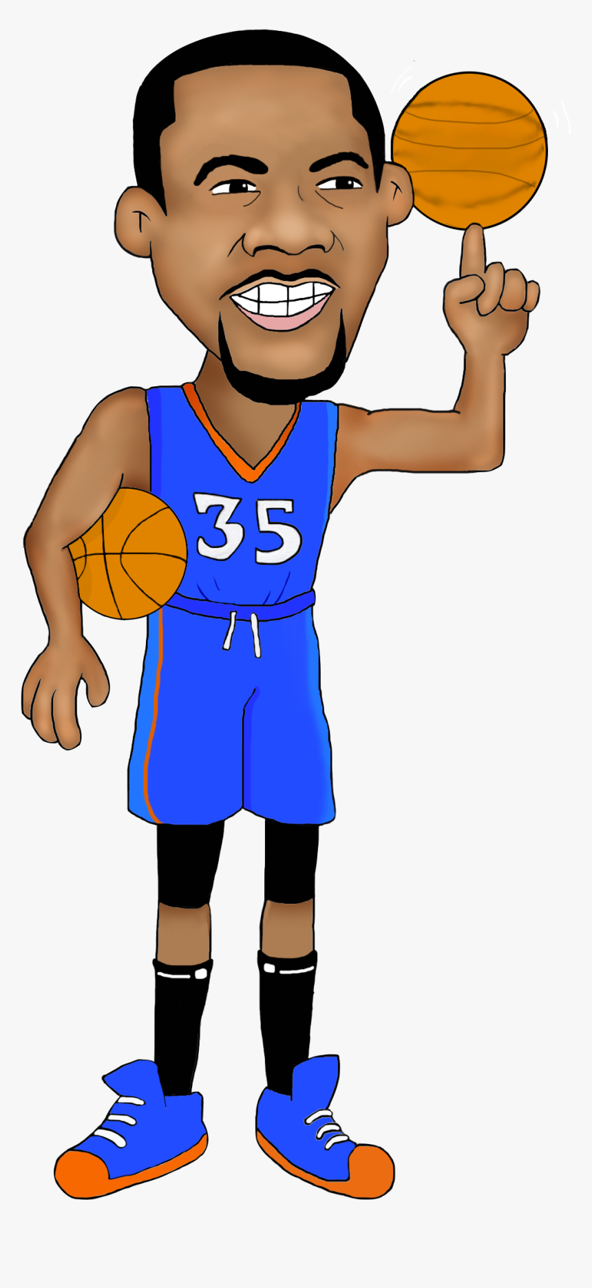 Golden State Warriors Player Cartoon - Kevin Durant Cartoon Png, Transparent Png, Free Download
