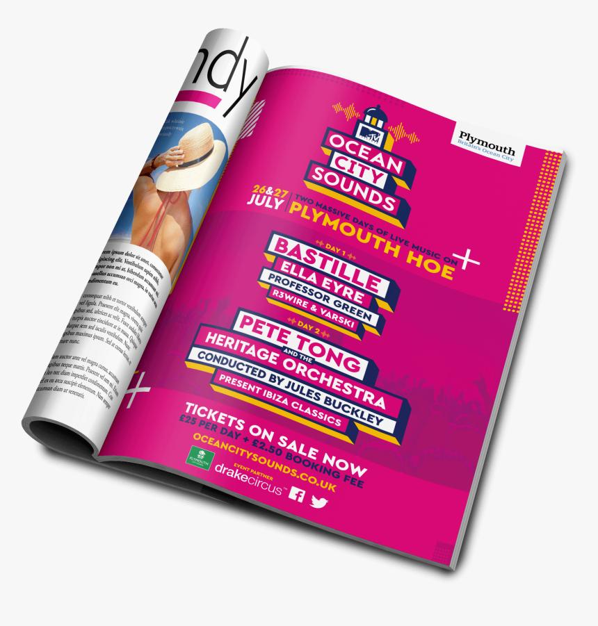 Ocean City Sounds Magazine Advert - Brochure, HD Png Download, Free Download