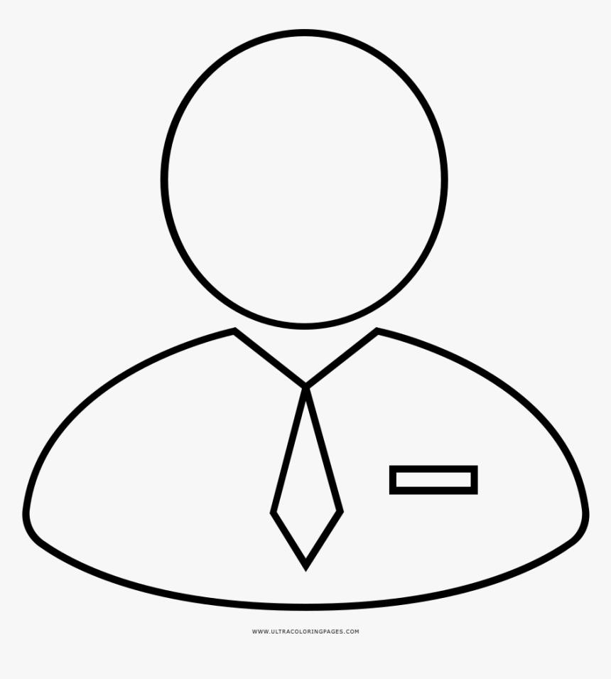 Office Worker Coloring Page - Desenhos Para Dia Do Trabalhador De Colorir, HD Png Download, Free Download