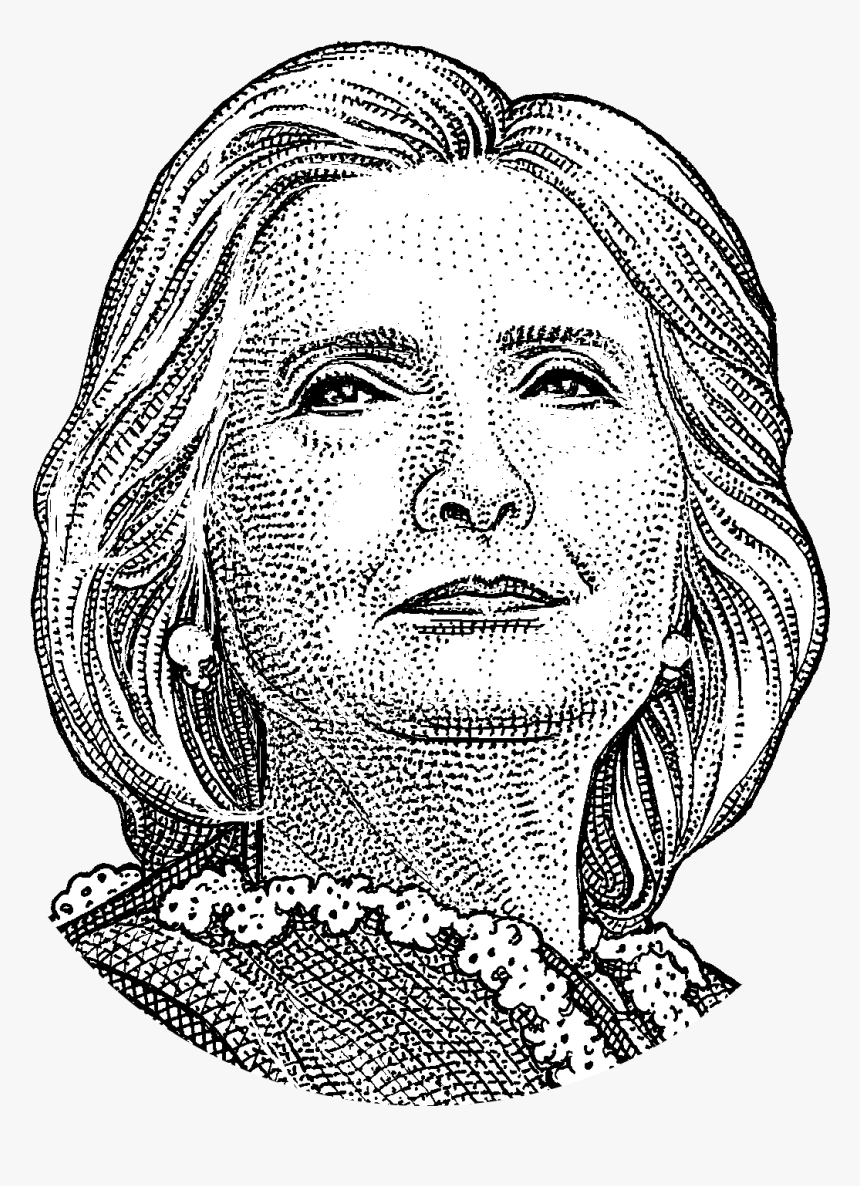 United Art Photography States Hillary Monochrome Clinton - Sketch Of Hillary Clinton, HD Png Download, Free Download