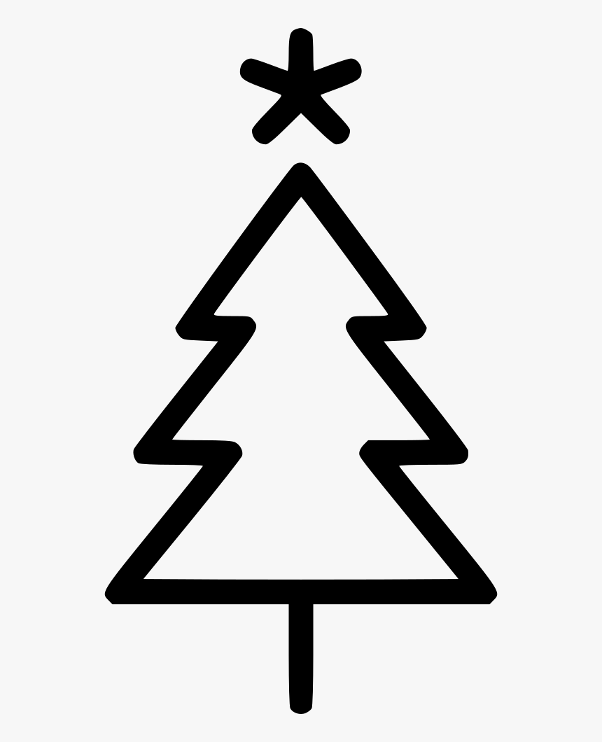 Transparent Christmas Tree Star Png Simple Christmas Tree Outline Png Download Kindpng