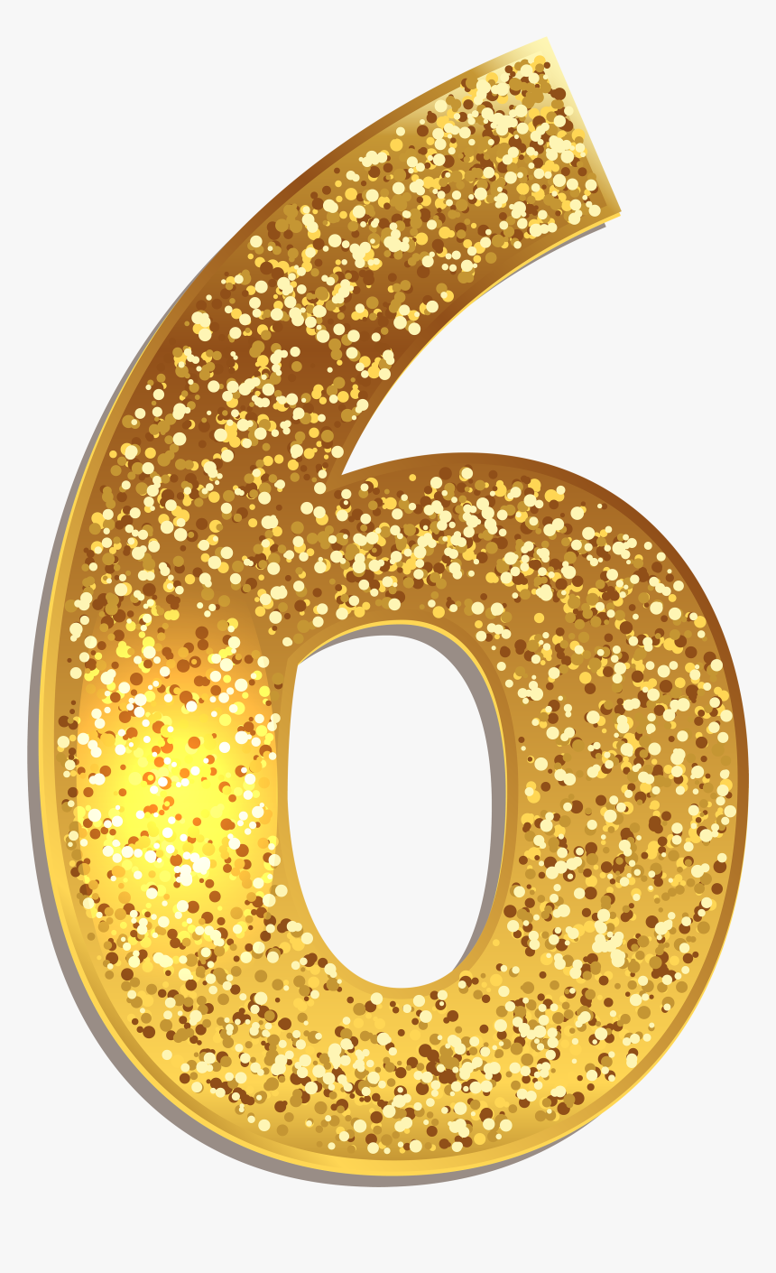 Six Gold Shining Png - Number 6 Gold Png, Transparent Png, Free Download