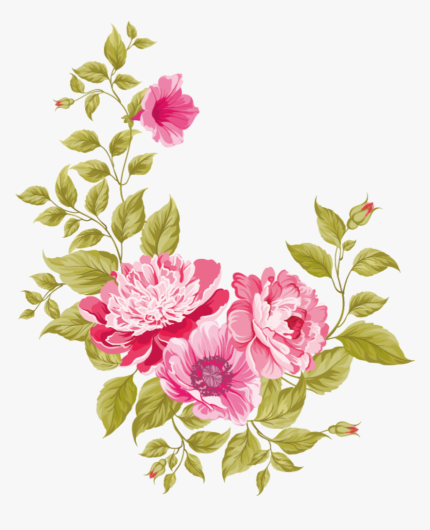Pink Watercolour Flower Flowers Paint Paintings Flower Vector Free Download Png Transparent Png Kindpng