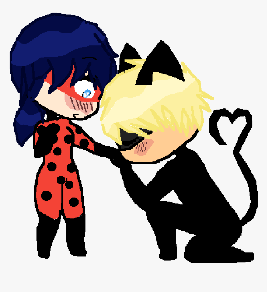 Ladybug And Chat Noir - Ladybug Y Cat Cartoon, HD Png Download, Free Download