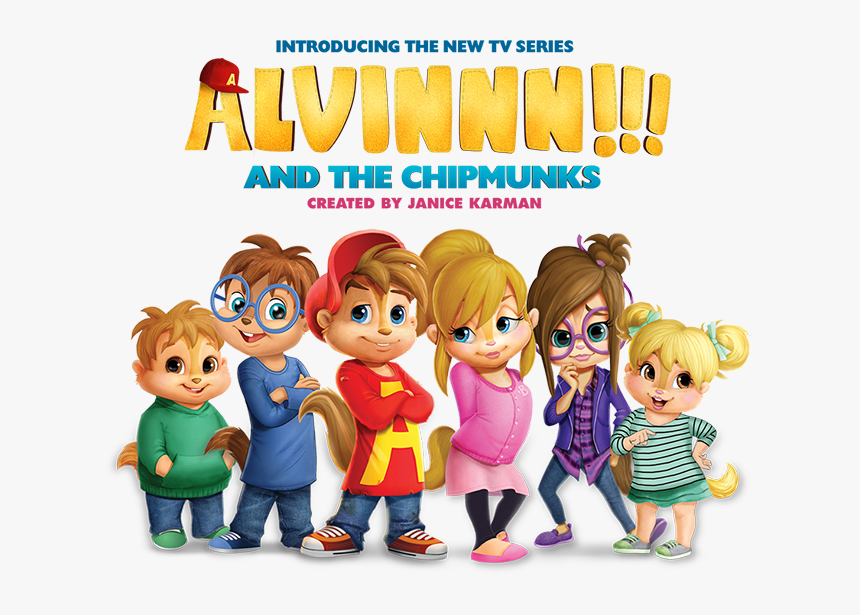 Alvin And The Chipmunks Cast Cartoon Hd Png Download Kindpng
