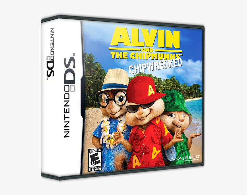 Alvin And The Chipmunks - Alvin And The Chipmunks Chipwrecked Ds Game, HD Png Download, Free Download
