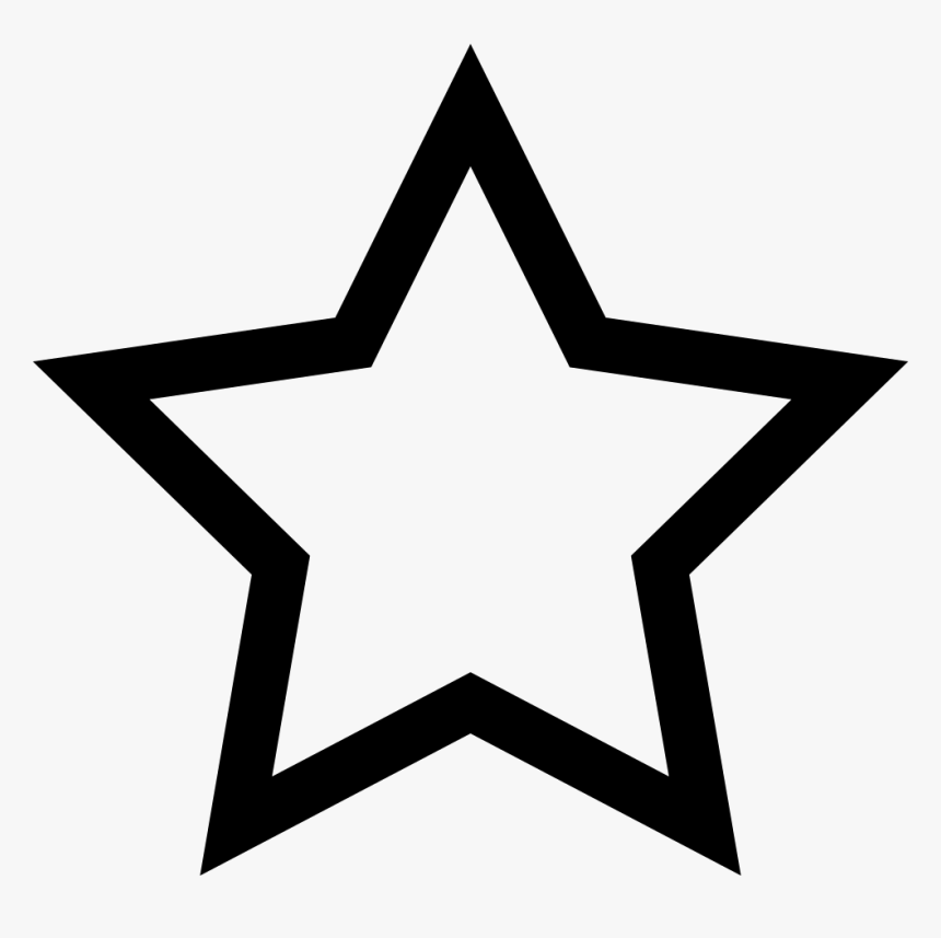 Five Star Line - Star Outline, HD Png Download, Free Download