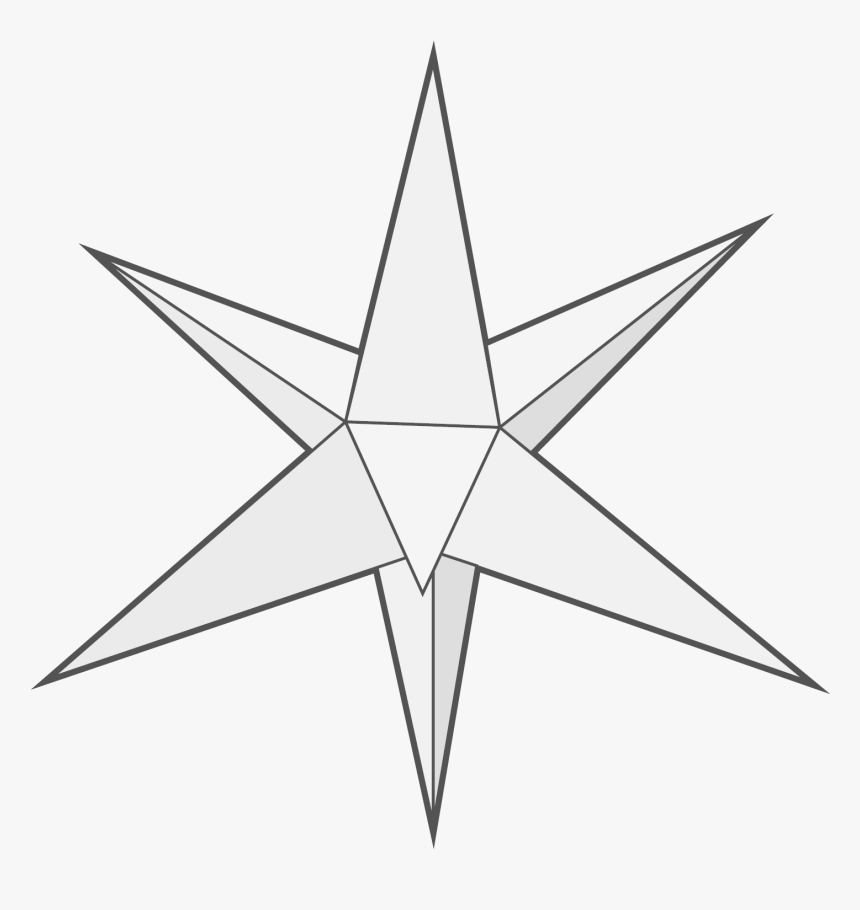 8 Pointed Star Png - 3d 8 Point Star, Transparent Png, Free Download