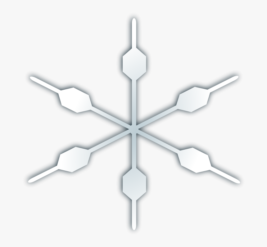 Free Vector Snow Flake Icon - Snow Icon White Transparent, HD Png Download, Free Download