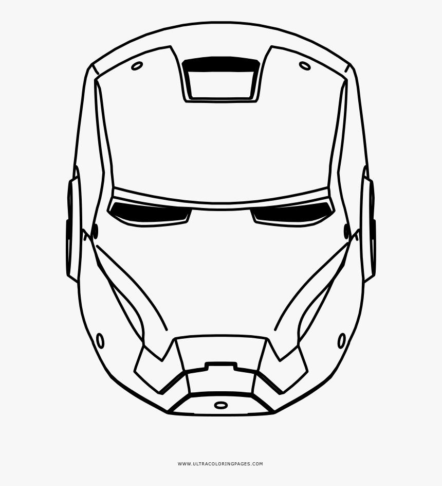 Iron Man Coloring Page - Iron Man Hitam Putih, HD Png Download, Free Download