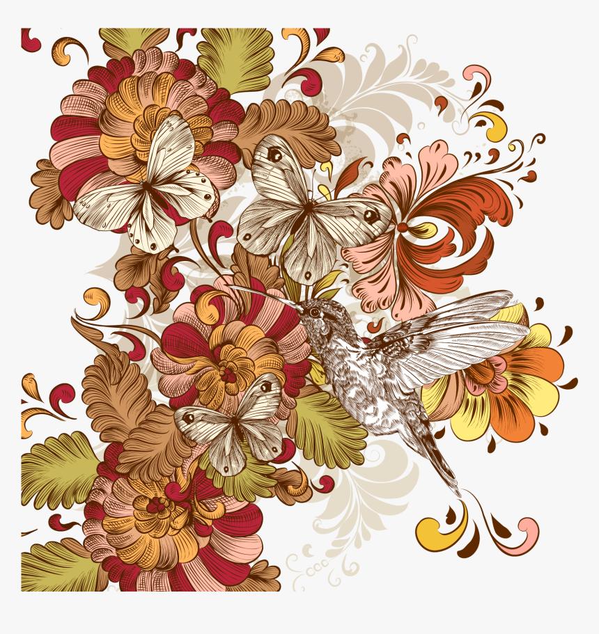 Flower Floral Design Vintage Clothing Clip Art - Vintage Cliparts, HD Png Download, Free Download