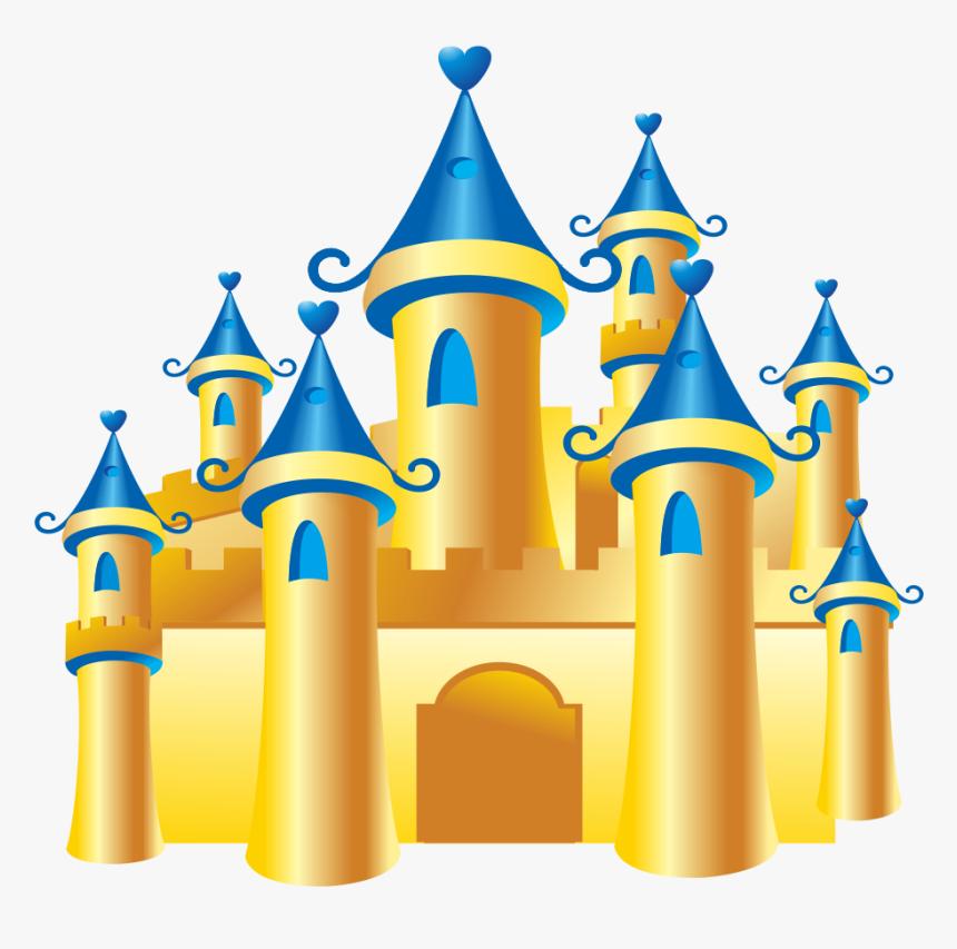 Castle Gratis Download - Gold Disney Castle Png, Transparent Png, Free Download
