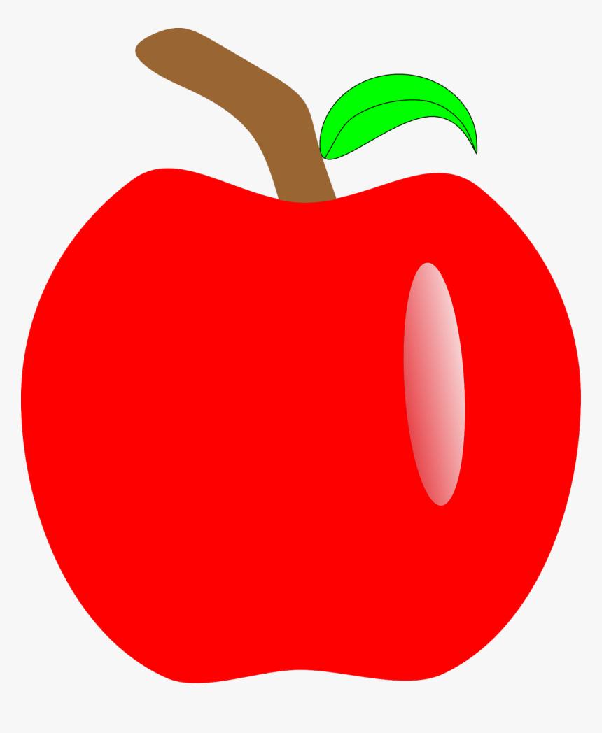 Apple Snow White Seven Dwarfs Clip Art - Molde Maça Branca De Neve, HD Png Download, Free Download