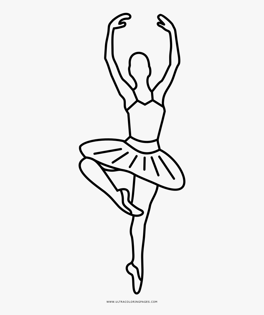 Ballerina Coloring Page Ballet Shoes Line Drawing Png Transparent Png Kindpng