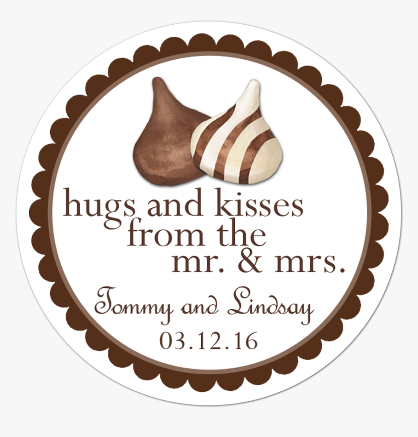 Hershey Hugs And Kisses Personalized Sticker - Thomas The Train Thank You Stickers, HD Png Download, Free Download