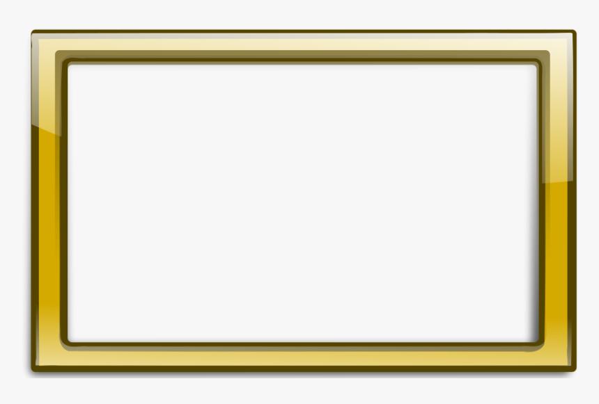 Gold Frame Clipart Png , Png Download - Elegant Frame Png Gold, Transparent Png, Free Download
