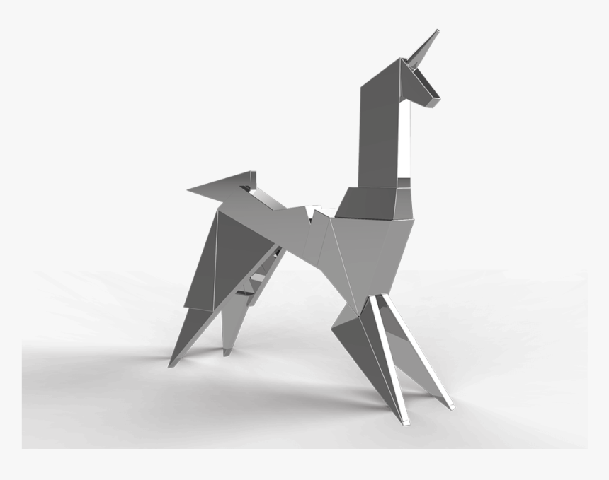 Transparent Gold Unicorn Png - Origami, Png Download, Free Download
