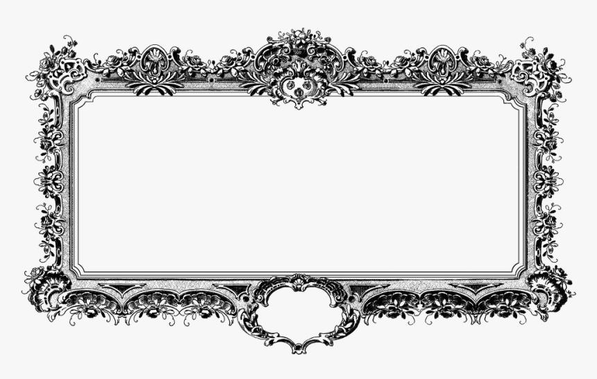 Baroque, Antique, Frame, Black And White, Vintage - Marcos Vintage Vector Blanco Png, Transparent Png, Free Download