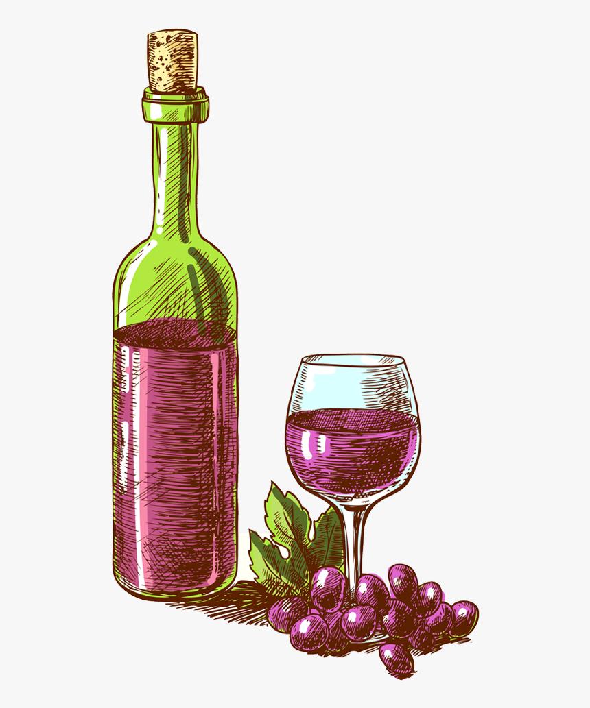 Wine Bottle Icon Png - Wine Bottle Illustration Png, Transparent Png, Free Download